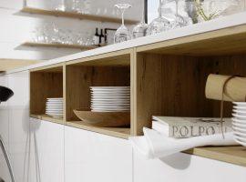 Artwood 22W - Wildeiche rustikal / Lux 361 - Weiß Hochglanz